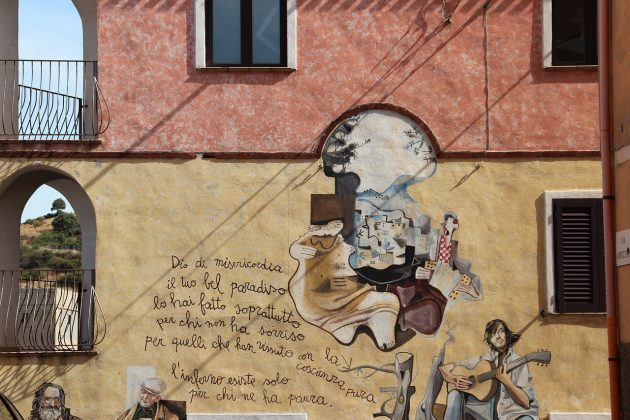 Maľby - mestečko Orgosolo